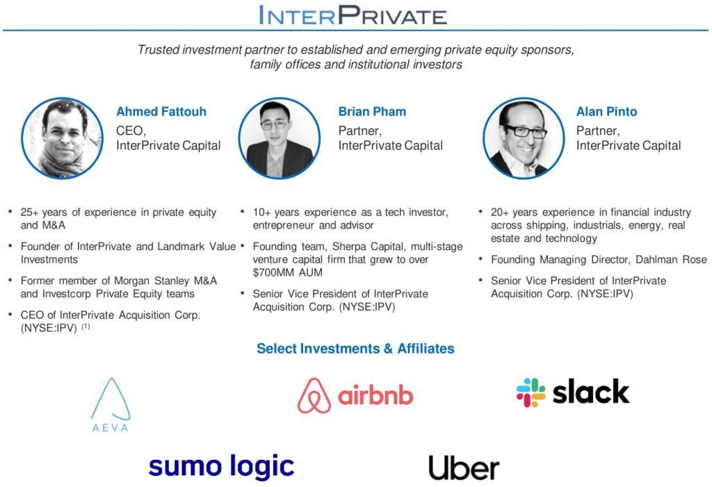 InterPrivate IV InfraTech Partners Team