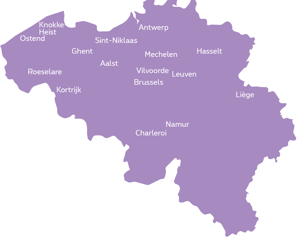Proximus Belgium Fiber Coverage Map