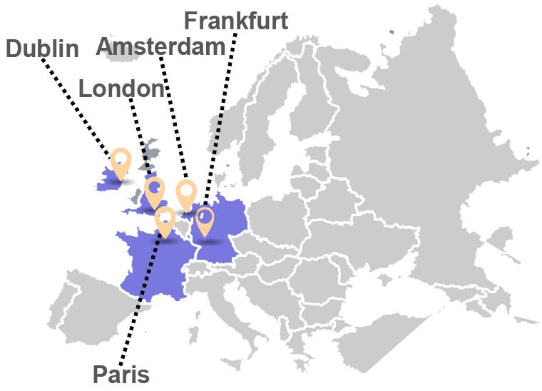 CyrusOne Data Center Map Europe