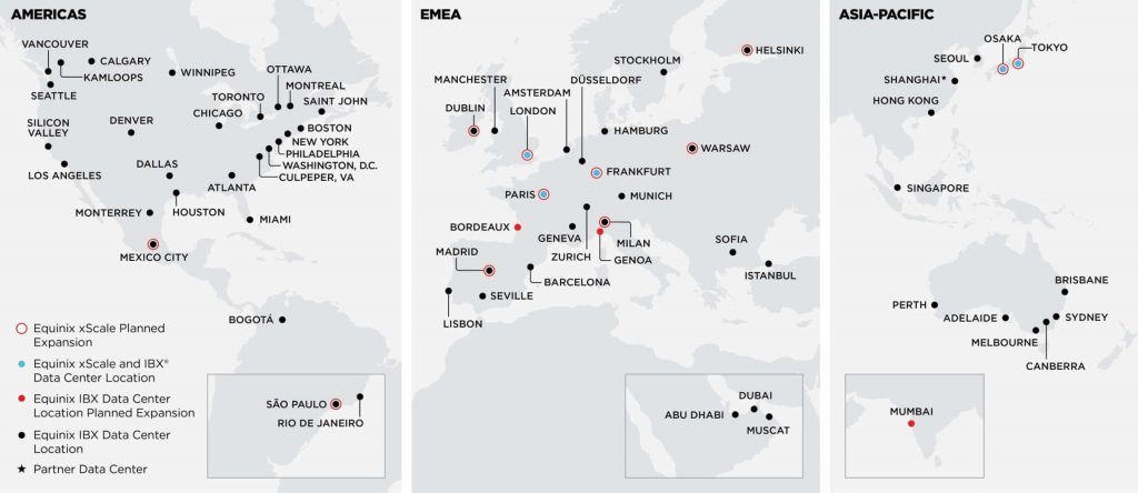 Equinix xScale Data Center Locations