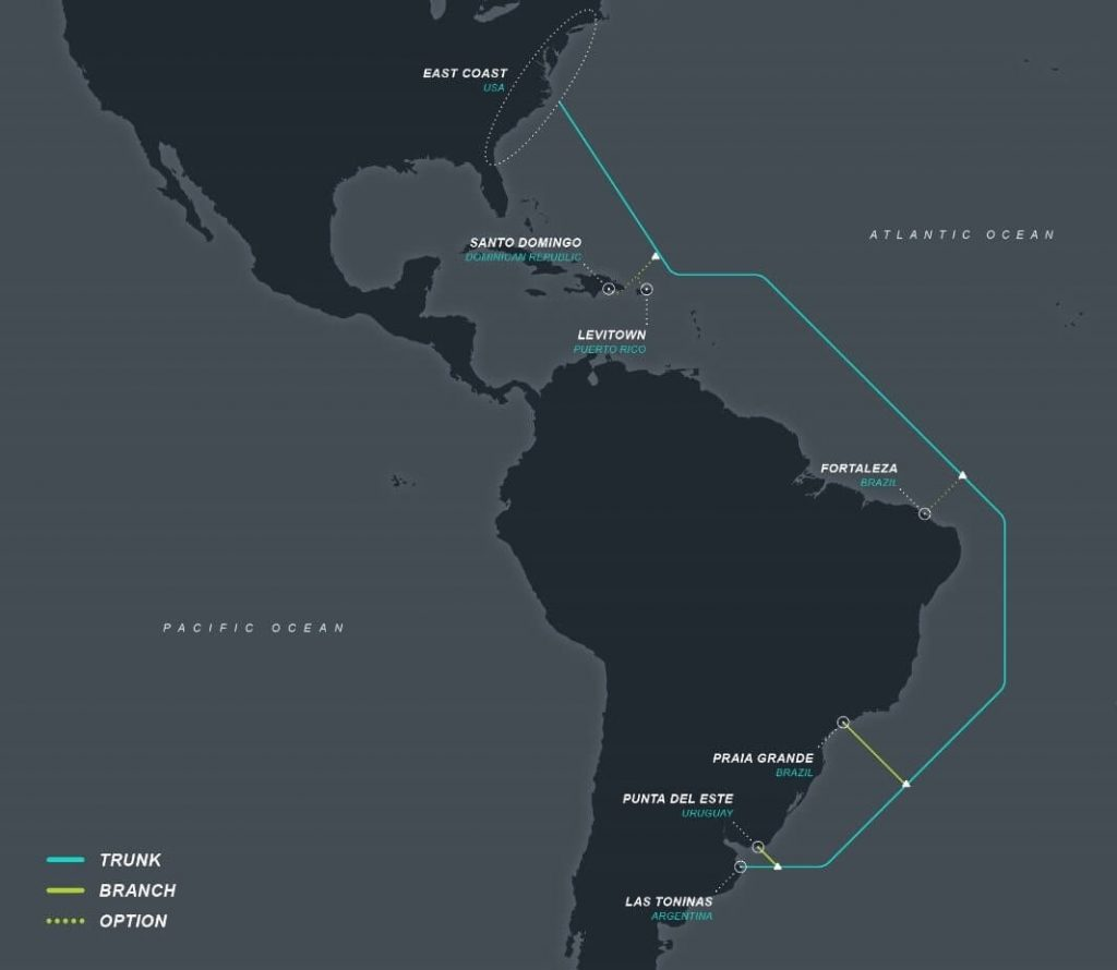 Firmina Subsea Cable Map