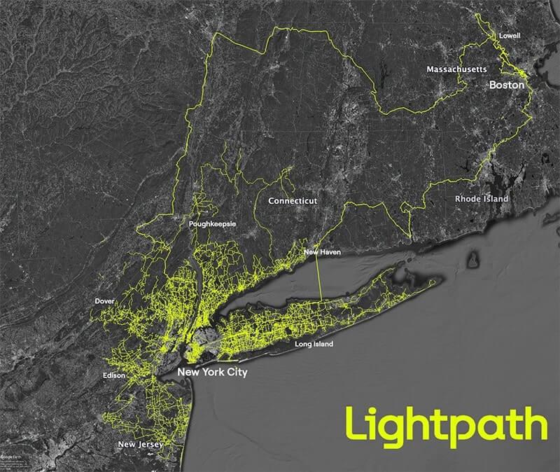 Lightpath Fiber Network Map