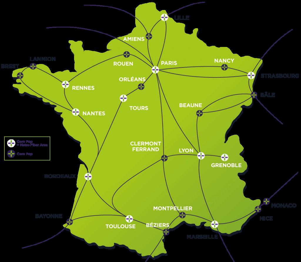 Sipartech Metropolitan Network Map