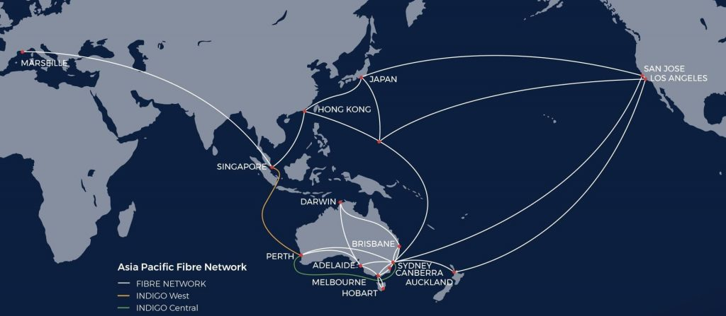 Superloop Fiber and Subsea Cable Network Map