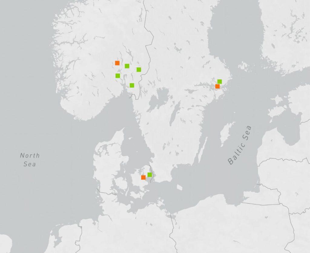 DigiPlex Data Centers Map