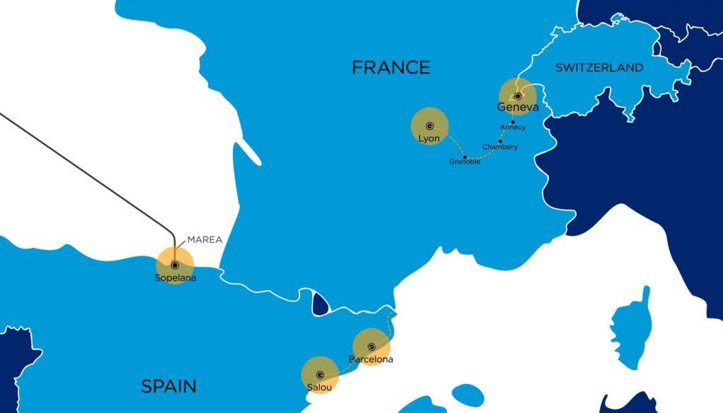 Lumen Fiber Expansion Map France Switzerland Spain