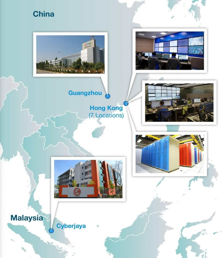 PCCW Solutions Data Centers Map