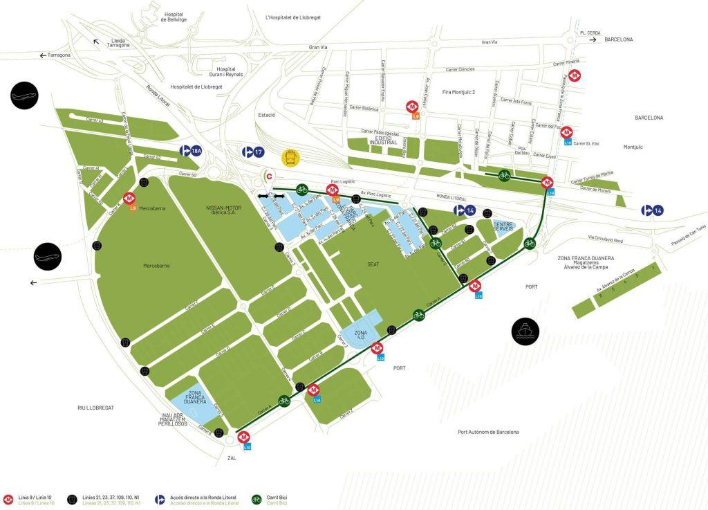 Parc Logístic de la Zona Franca PLZF Map