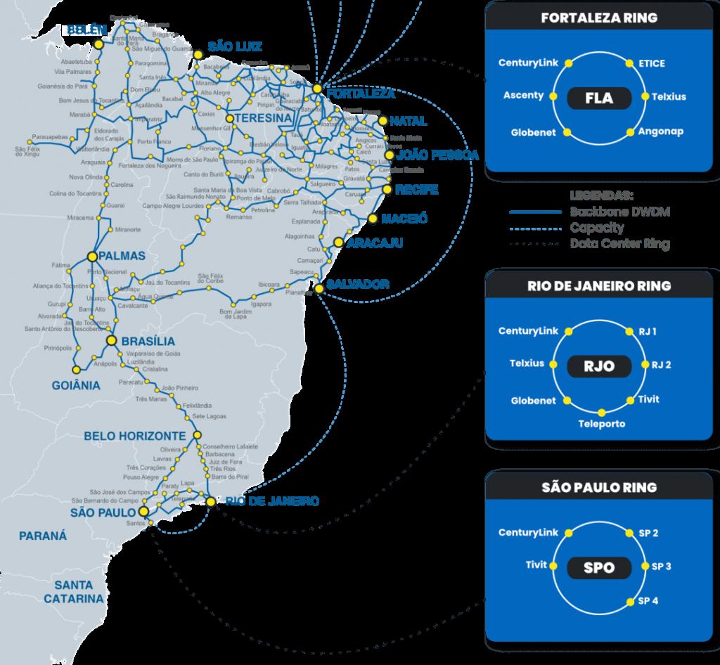 Wirelink Fiber Network Map Brazil