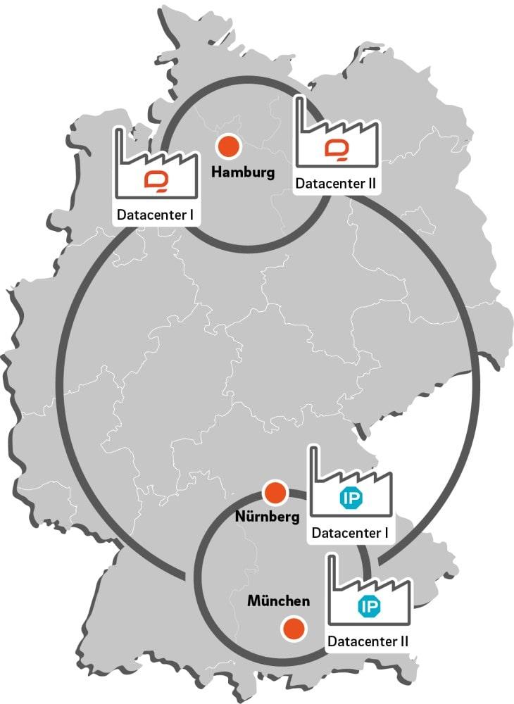 IP Exchange q.beyond Nuremberg Munich Germany Data Center Map