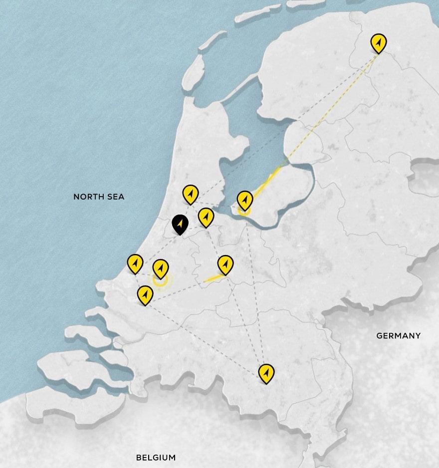 NorthC Group DWS Netherlands Data Center Map