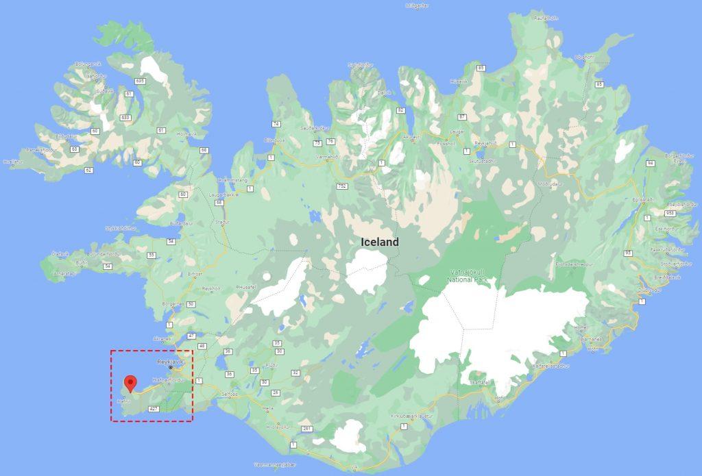 Verne Global Iceland Data Center Map