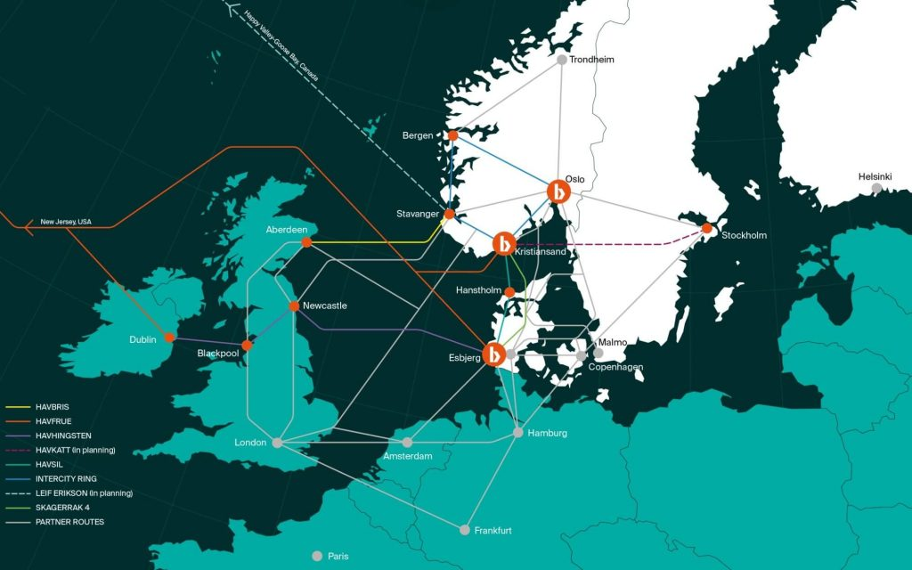 Bulk Infrastructure Subsea Cables and Terrestrial Fiber Map