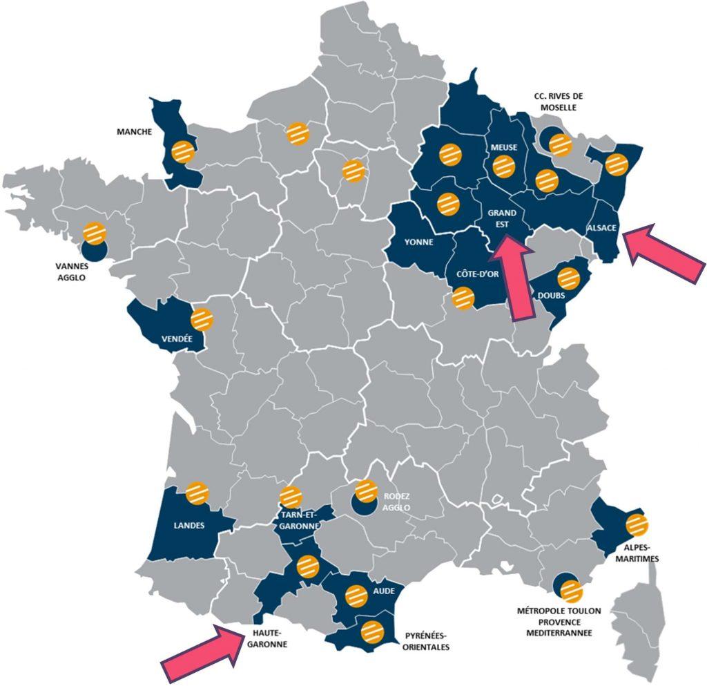 France FTTH Concessions Map Rosace Losange Fibre 31